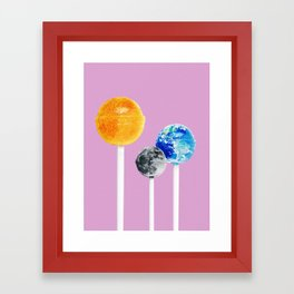 SUN MOON EARTH LOLLIPOPS Framed Art Print
