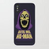 skeletor iPhone & iPod Cases featuring Skeletor - Bite me by Magnus Snickars