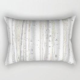 Pale Birch Trees Rectangular Pillow