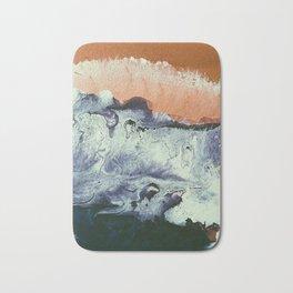 TIDAL SWELL | Acrylic abstract art by Natalie Burnett Art Bath Mat