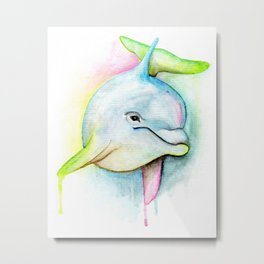The Dolphin Animal Spirit Guide Metal Print