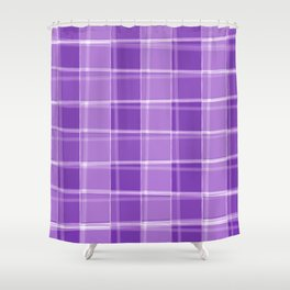 Chalk strokes of light and violet lines on a calm background. Shower Curtain