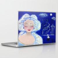 cinderella Laptop & iPad Skins featuring cinderella by giuliamarchione