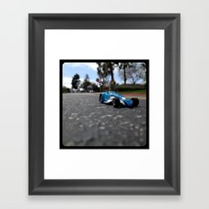 Strolling through the city streets. Framed Art Print