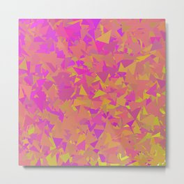 Pink, Orange, and Yellow Triangles Metal Print