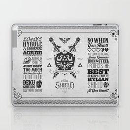 Legend of Zelda - The Hylian Shield Foundry Laptop & iPad Skin