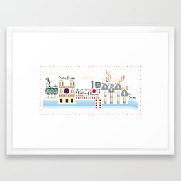 Paris _ les îles Framed Art Print