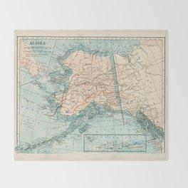 Vintage Alaska Throw Blanket