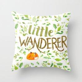 Little Wanderer Throw Pillow
