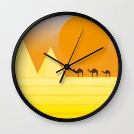In the desert... Wall Clock