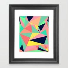 HARDLY FALLING Framed Art Print