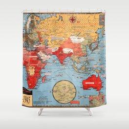 Map Of World War 2 Shower Curtain