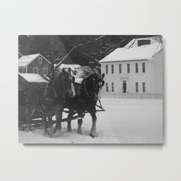 """Draft Horses"" Metal Print"