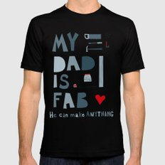 My Dad is Fab Mens Fitted Tee Black MEDIUM