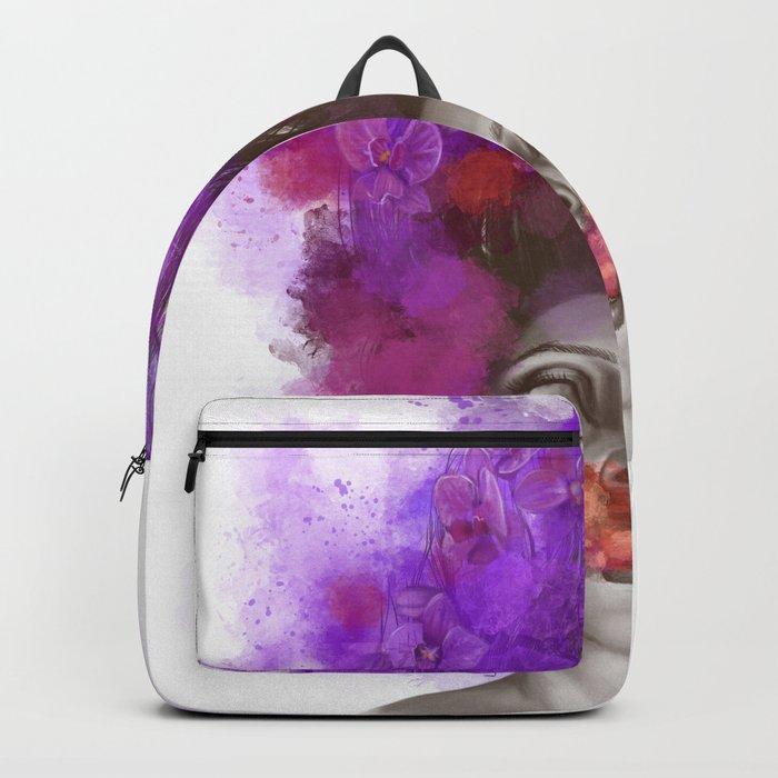 Free thoughts colorful painting Backpack