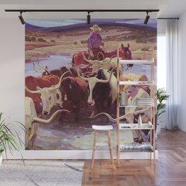 """Old Texas"" by W Herbert Dunton Wall Mural"