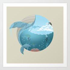 Whale Jump Art Print