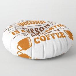 Coffee Success Criteria Floor Pillow