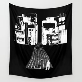 Dead Sound City (White on Black) Wall Tapestry