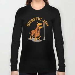 Giraffic Jam Traffic Pun Long Sleeve T-shirt