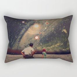 Light Explosions In Our Sky Rectangular Pillow