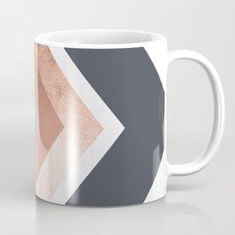 Grey, Bronze Chevron Home Decor Design Coffee Mug