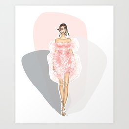 Pink Fashion Fairytale Art Print