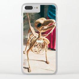 Skeleton dog Clear iPhone Case