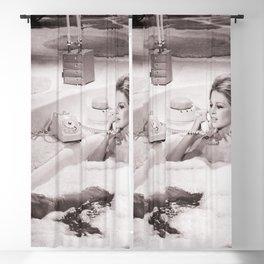 Brigitte Bardot in Bubble Bath , Vintage Blackout Curtain