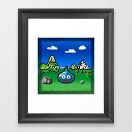 A Slime Draws Near! Framed Art Print