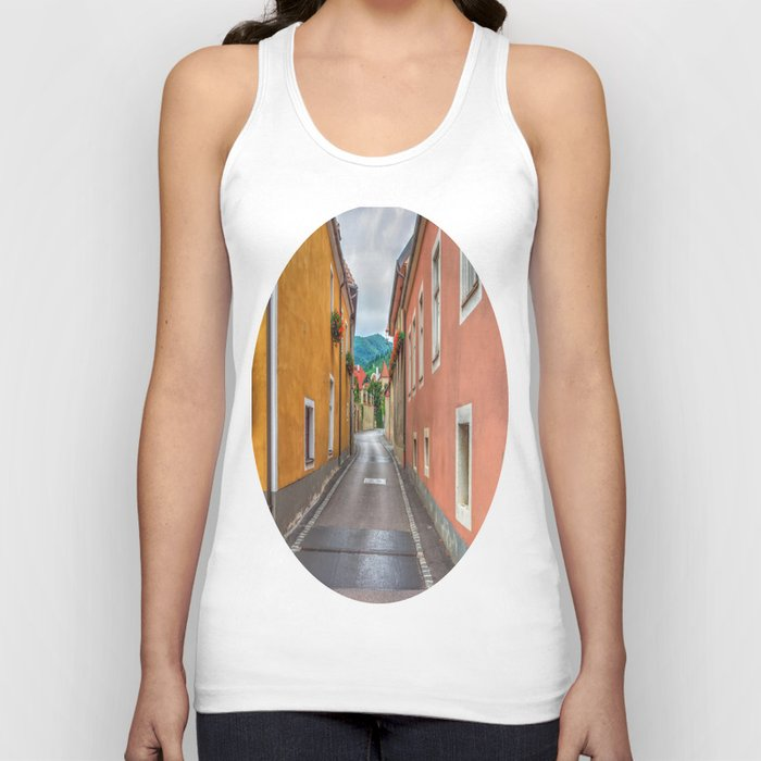 Geraniums all in a Row Unisex Tank Top
