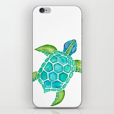 Watercolor Sea Turtle iPhone Skin