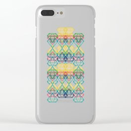 Diamonds CMYK Clear iPhone Case