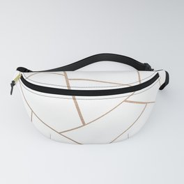 Rose Gold White Geometric Glam #1 #geo #decor #art #society6 Fanny Pack