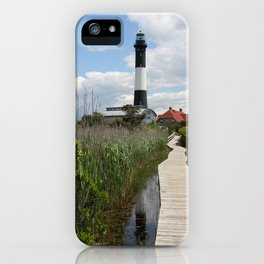 Fire Island Light With Reflection - Long Island iPhone Case