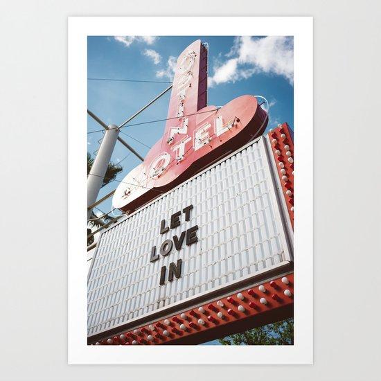 Let Love In II Art Print