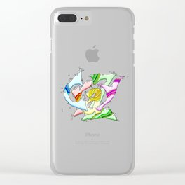 CRAZY Clear iPhone Case