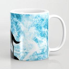 Howling Winter Wolf snowy blue smoke Coffee Mug