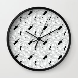 Postures de Chat Wall Clock