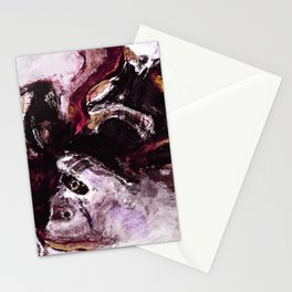 Purple Abstract Art / Surrealist Painting Stationery Cards
