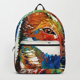 Colorful Fox Art - Foxi - By Sharon Cummings Backpack