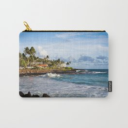 Surfers in Poipu Carry-All Pouch