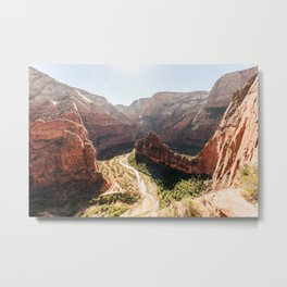 From the Mountains, Up Angel's Landing (Zion National Park, Utah) Metal Print