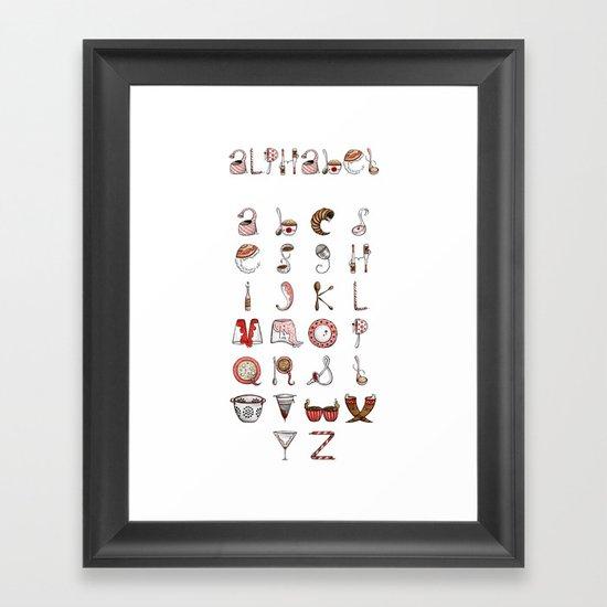 Spills & Spoons Alphabet Framed Art Print