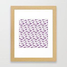 Violet Sharks Framed Art Print