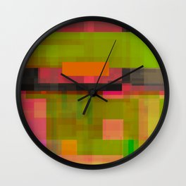 pinks beside greens Wall Clock