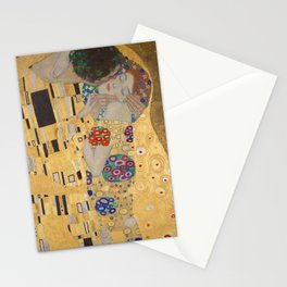 Gustav Klimt, The Kiss (Lovers), Detail Embrace, 1908 - Reproduction under Belvedere, Vienna, Creative Commons License CC BY-SA 4.0 Stationery Cards