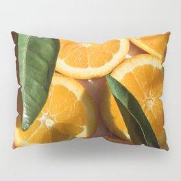 Orange Fruit Pattern Photography Pillow Sham