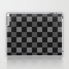 Black & Grey Checkered Plaid Squares Laptop & iPad Skin