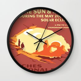 Vintage poster - Arches National Park Wall Clock
